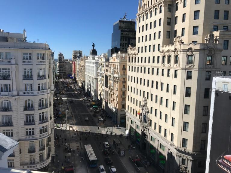 Madrid vista desde el cielo